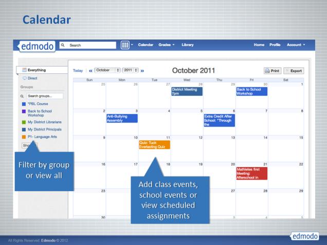 Edmodo - calendar2